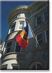 The Chancery of the Embassy of the Republic of Moldova is located not far from Connecticut Avenue, above Dupont Circle.
