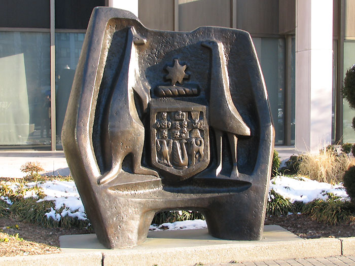 Sculpture outside the Australian Embassy