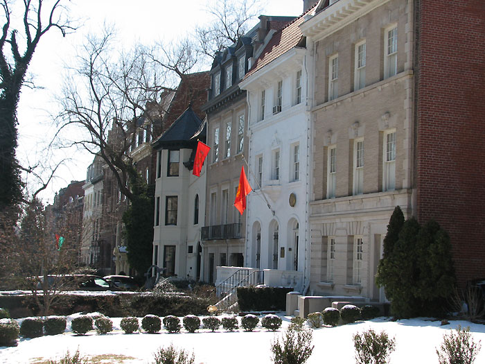 Embassies on a snowy Massachusetts Avenue, Embassy Row