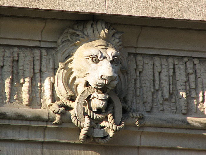 A lion at the British Embassy