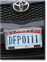 Diplomatic License Plate