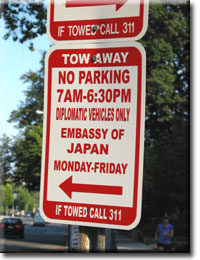 Diplomatic Parking Sign
