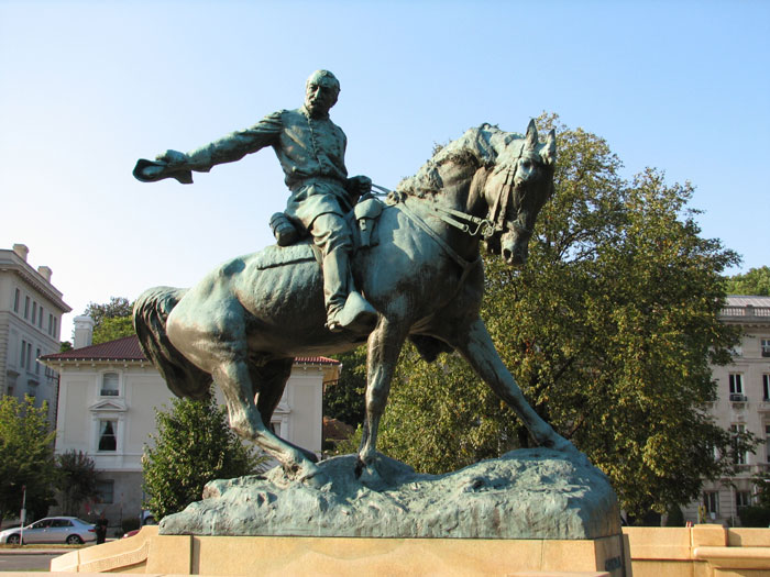 Statue of General Phil Sheridan, at Sheridan Circle on Massachusetts Avenue