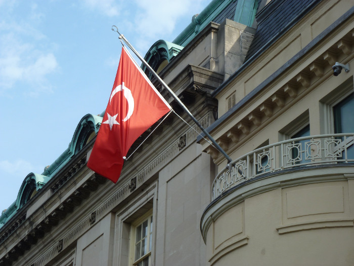 A Turkish Embassy building.