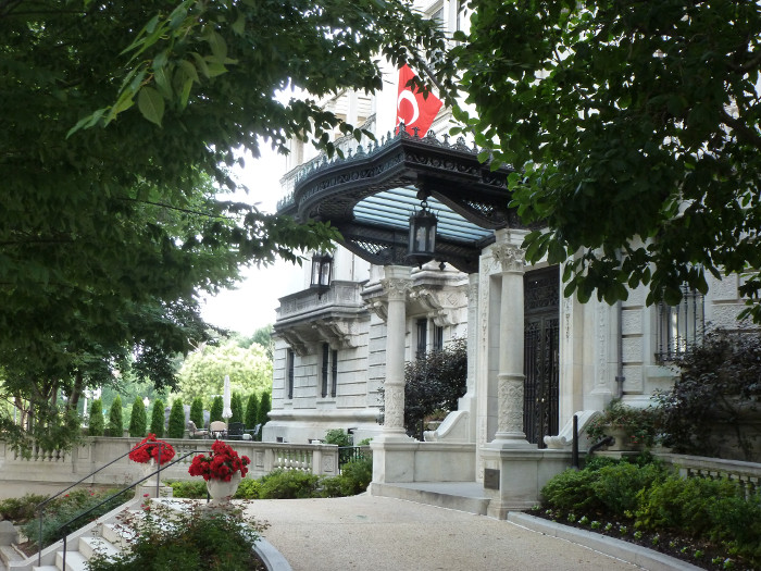 A Turkish Embassy building on Sheridan Circle.