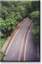 Rock Creek Parkway, seen from Massachusetts Avenue above
